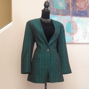 Vintage Prestige/ Green/Pinstripe Blazer
